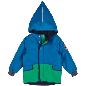 Finkid Pikku Mukka Reversible Winterjacket Kids, seaport/navy